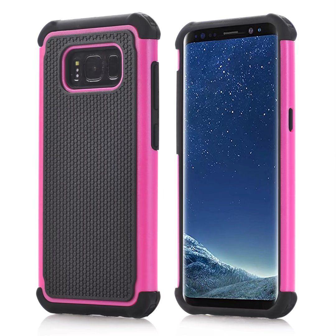 Para o Caso híbrido Samsung Galaxy S8 S8 Além disso robusto Rubber Impacto Matte à prova de choque pesado Hard Case para Samsung Galaxy S6 S6 Borda S5 S4 S3 S2