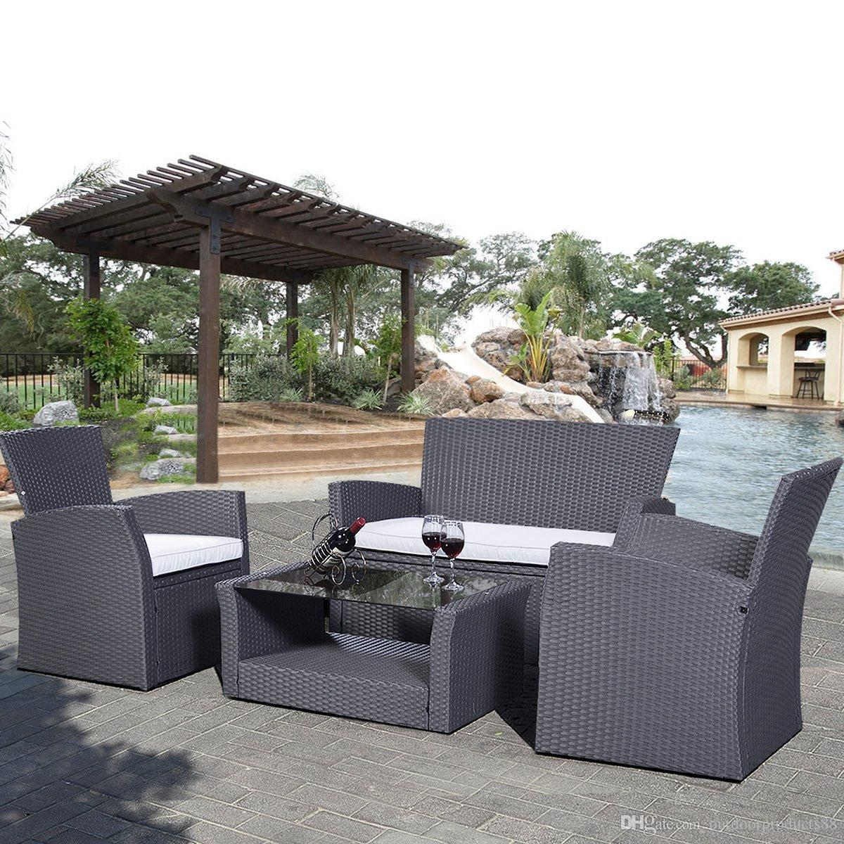 pe rattan wicker sofa set outdoor indoor patio garden lawn furniture rh dhgate com Resin Wicker Furniture Weatherproof Wicker Furniture