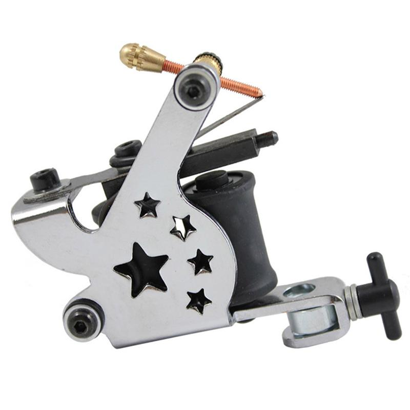 Complete Tattoo Gun Kits 2 Machines Guns 5 Kleuren Inks Sets 10 Stuks Naalden Voeding Tips Grepen Tattoo Guns Kits voor Beginner 0614002