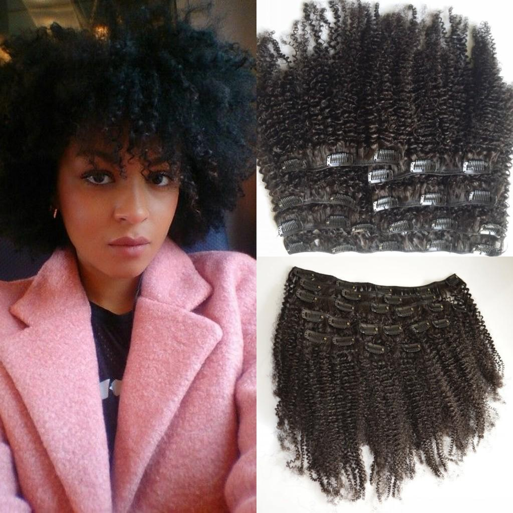 G Easy Mongolian Clip In Human Hair Extensions Mongolian Afro Kinky