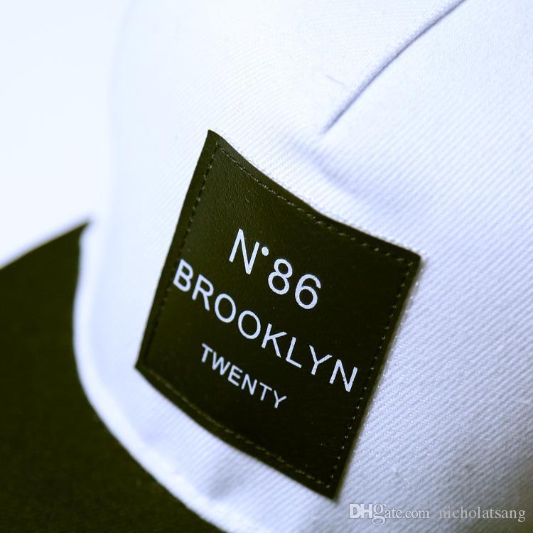 2016 Cayler Sons Gorras 힙합 편지 N86 BROOKLYN TWENTY Mens 야구 모자 상표 여성 모자 Black Snapback 모자 모자 조정 가능