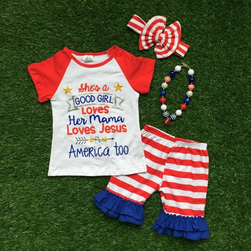 See larger image - Best Quality 2016 Hot Sale New Baby Girls Kids 4th Of July Summer