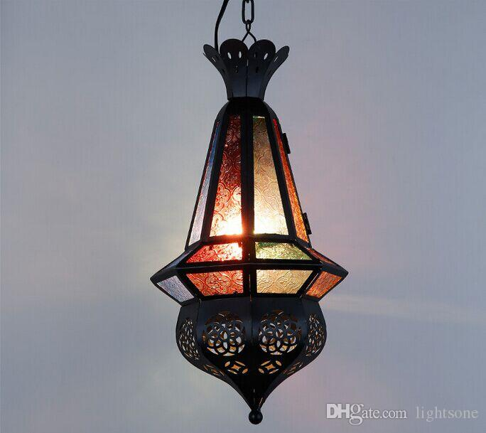 Wholesales maan coffee mediterranean moroccan pendant lamp wholesales maan coffee mediterranean moroccan pendant lamp creative retro bar internet cafe stained glass coloured glass pendant light yellow pendant light mozeypictures Image collections