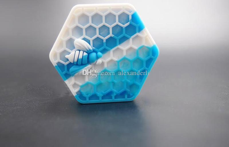 Nonstick Honeybee Wax Containers 26ml Hexagon Honey Bee Silicone Container Food Grade Jars Dab Tool Reusable Silicone Wax Box Wax Containers