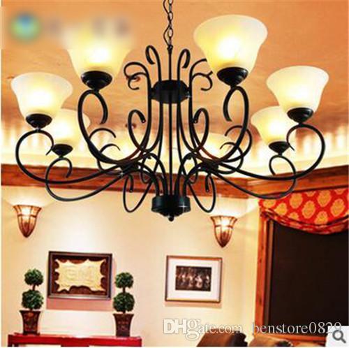 LRE037-CE / UL сертификат современное железное стекло европейские люстры culbe освещение дома стекло ресторан декор потолочный светильник