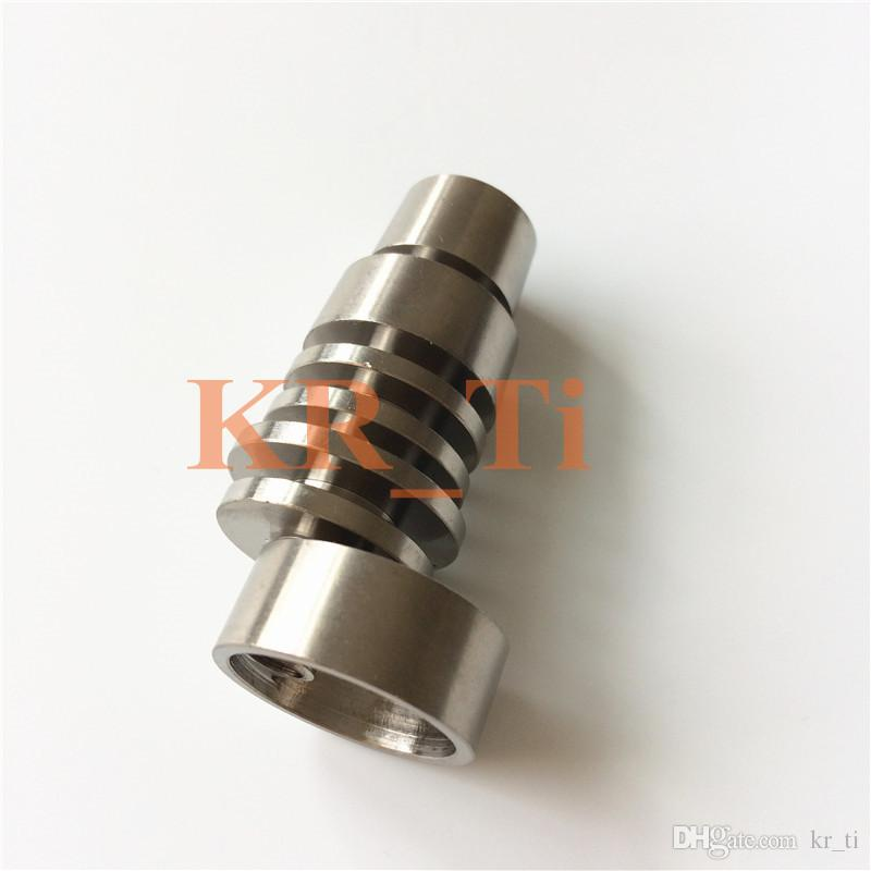 Domeless Universal Titanium Nail Jiont Male 14mm&18/19mm easy to heat GR2 for glass pipe VS quartz nail water pipe