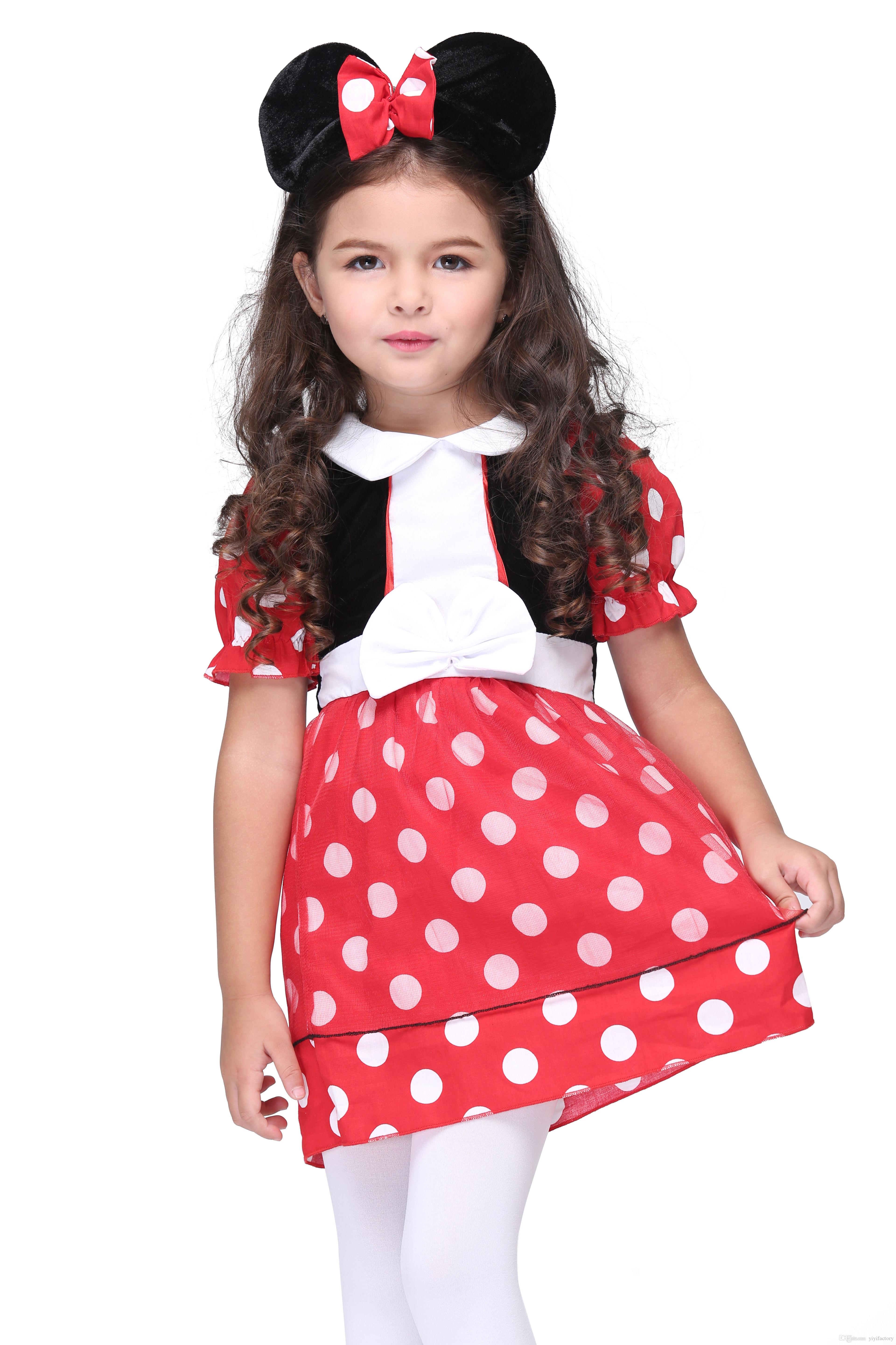 Online Cheap Kids Halloween Mickey Mouse Costumes Party Girls Red Polka Dots Mickey Minnie Dresses u0026 Mouse Ear Tire Outfits Children Cartoon Costumes By ...  sc 1 st  DHgate.com & Online Cheap Kids Halloween Mickey Mouse Costumes Party Girls Red ...