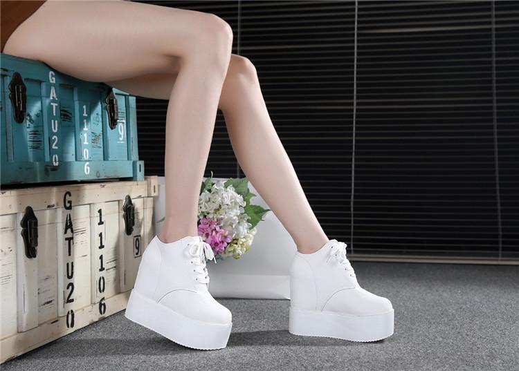봄 새로운 다큐멘터리 신발 방수 대만 두꺼운 바닥 12cm 높이 플랫폼 신발은 여성 신발에 대한 34 야드에 웨지로 증가 @ 2