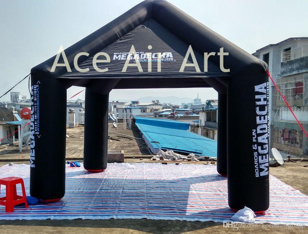 Livre para imprimir o logotipo novo personalizado feito 4 pernas preto maravilhoso quadrado inflável publicidade tenda para promotiom