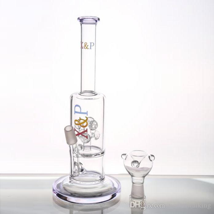 Grand 24cm Circulent Oil Rigs Verre Bongs Arm Tree et Gear Perc Verre Tuyaux D'eau Joint 14.4mm Bongs Bowl