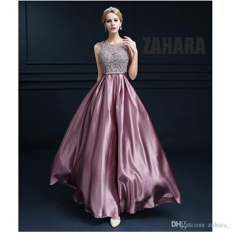 Compre Sexy See Through Tallas Grandes Vestidos De Baile Una Línea ...