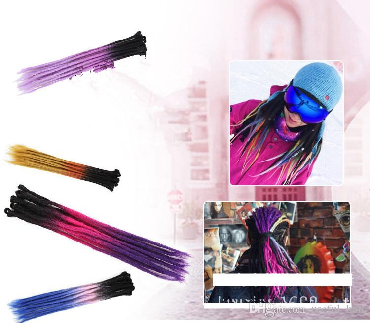 2018 christmas gift 22inch synthetic braiding hair dreadlocks crochet hair extensions ynthetic crochet braids dreads handwork blonde extensions from