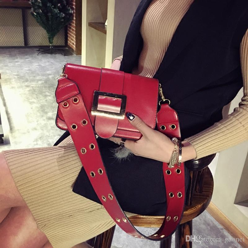 2017 New fashion women flap bag shoulder strap bag fashion leather handbags messenger bags chain bag brand handbags