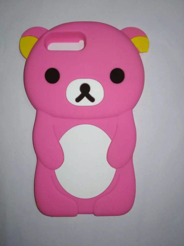 3D Mignon Animal de Bande Dessinée Conception Brun Teedy Ours Souple Cas de Silicone pour Iphone 7 7 Plus 6 6 Plus 5 5S 5C 4S