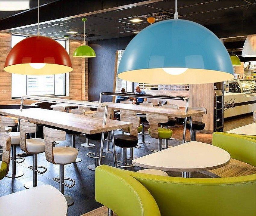 Moda moderna simples única cabeça E27 droplight criativo multicolor semicírculo estilo droplight restaurante bar sentado iluminação lustre