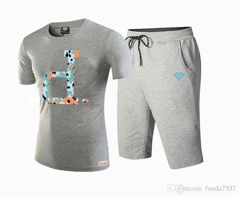 876 T Shirts + Shorts 여름 다이아몬드 공급 세트 남자 편지 인쇄 농구 실행 스포츠 세트 S-5xL suit 남성