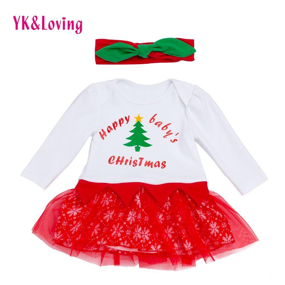 2018 2018 Xmas Tutu Dresses For Baby Girl 0 2t Cotton Short Sleeve ...