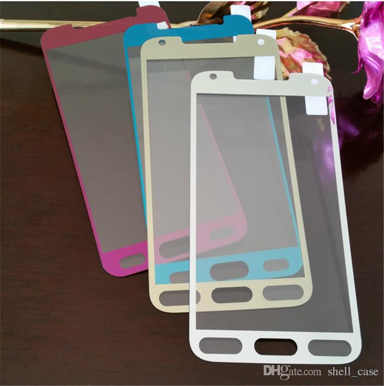 G 350 Front Electroplating Tempered Glass Screen Protector Mask Proof Membrane for samsung galaxy s3 s4 s5 s6 note 3 4 5 A3 A5 A7 A8 e5 e7