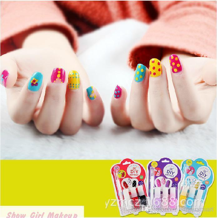 New Styles Cute Wave Nail Polish Set Lovely Green Gel Nail Polish Bk ...