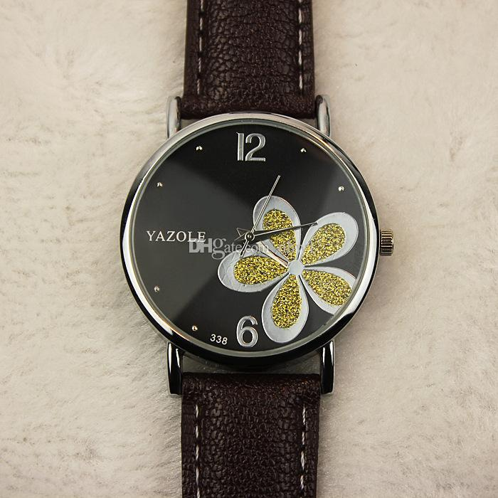 Venda quente, Flor Top Moda Quartz Relógio de pulso mulheres Relógios Feminino relógio Quartz-relógio Relógio Montre Feminino Vestido horas