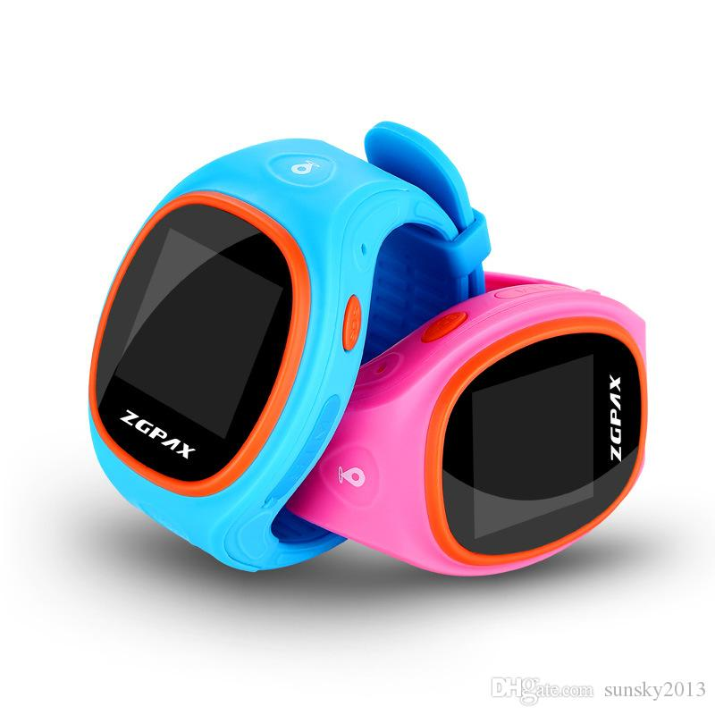 ZGPAX S866 SOS GPS Tracker Kids Smart Watch Phone GSM SIM LBS WIFI Bluetooth Children Smartwatch Waterproof Wrist Watches for iOS Android