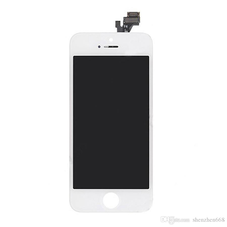 Brand New No Dead Pixel Screen For iPhone 5 5s 5c LCD Display Touch Screen Digitizer Assembly Replacement Black and White