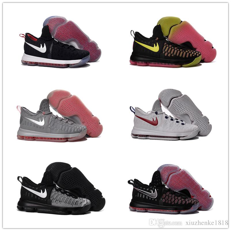 27c0e7ef474 ... nike kd 9 university red black  new kevin durant basketball shoes kid  women 100original retro . ...