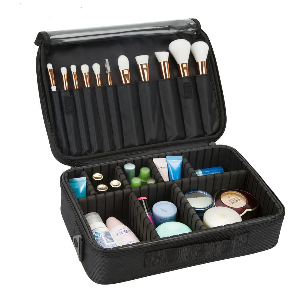 Professional Makeup Brush Case 3 Layers Cosmetic Beauty Artist Organizer  Makeup Suitcase Large Space With Shoulder Strap Cheap Makeup Train Case  Cosmetic ... d54e844a3a6a7