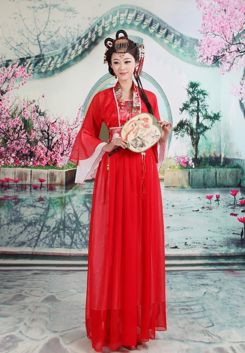 Traje de fadas fantasia de estilo chinês A dinastia tang antigos trajes de hanfu Princesa de dança clássica alto-classificado vestido de concubina imperial