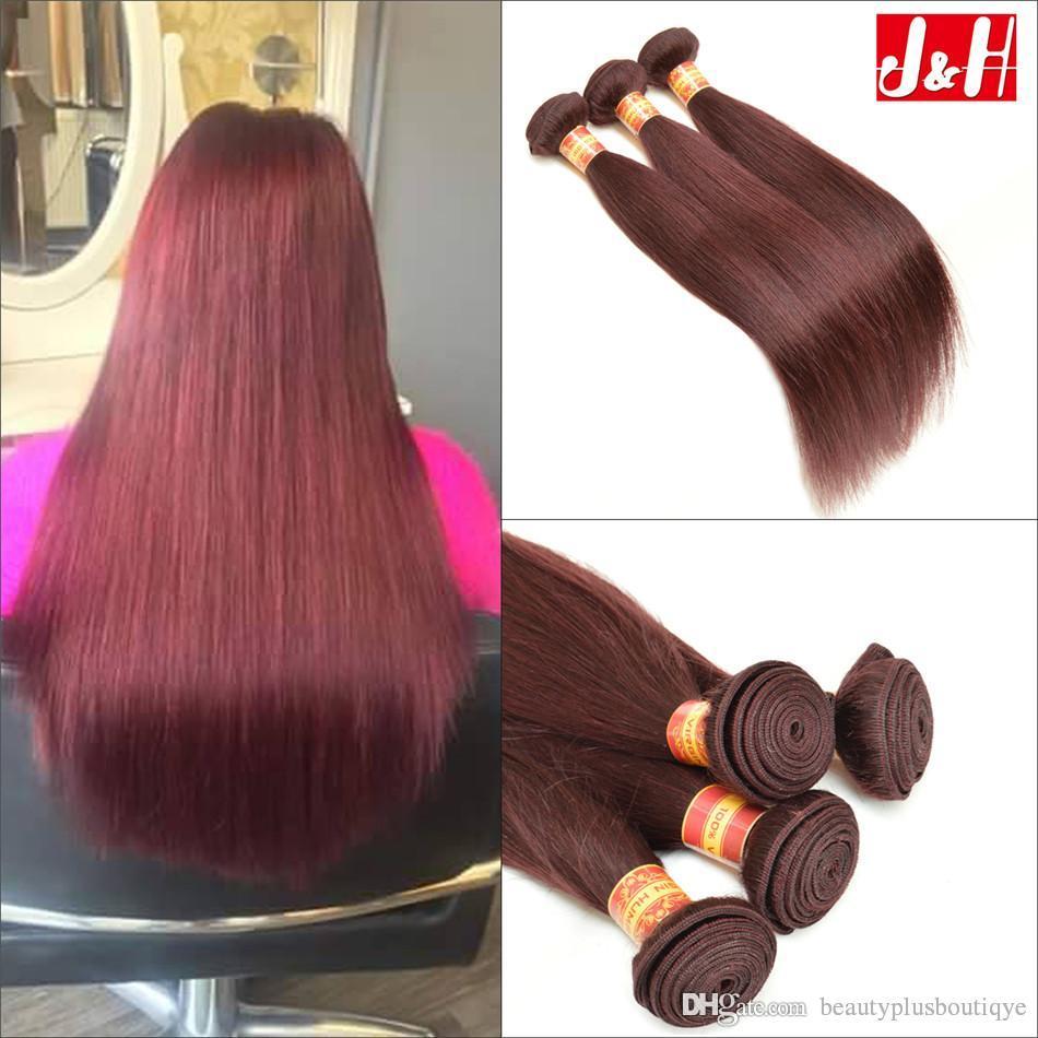 Wholesale Brazilian Human Hair Extensions Uk 99j Hair Weft Bundle