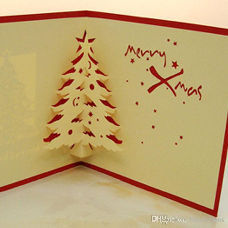 Wholesale new fashion 3d handmade christmas greeting cards christmas wholesale new fashion 3d handmade christmas greeting cards christmas cedar card gift party cards greeting card messages greeting card online from m4hsunfo