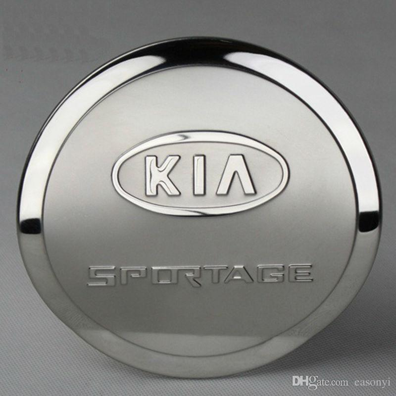 For 2008- 2013 2014 2015 KIA Sportage Sportage R Tank Cover Stainless Steel Gas/Fuel/Oil Tank Cover Car Styling Accessories