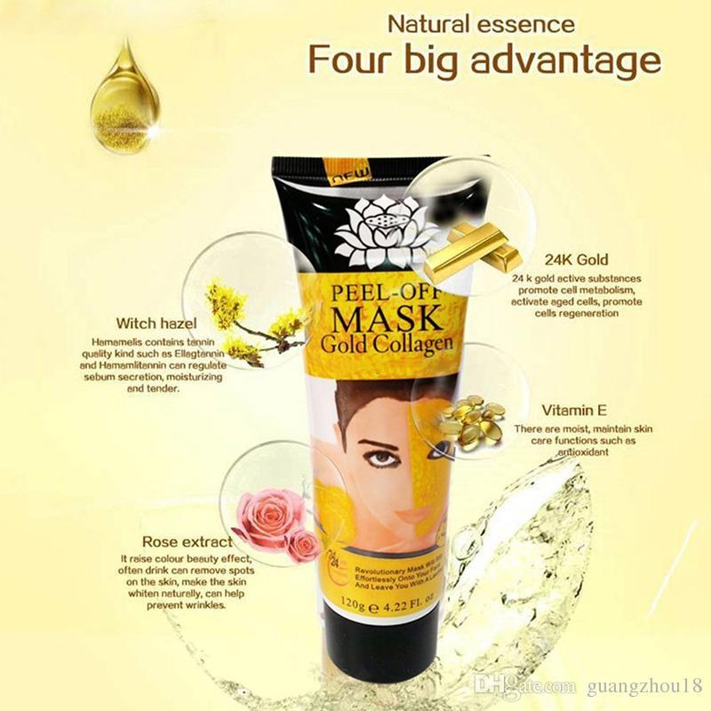 2017 Peel Off Facial Mask Black Crystal Gold Collagen Milk Blackhead Remover Face Mask Skin Care