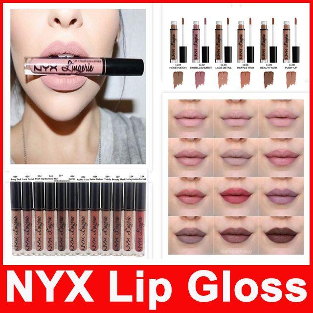 d64bc77fb NYX Lip Lingerie Liquid Matte Lip Cream Lipstick NYX Charming Long Lasting  Waterproof Lip Gloss Makeup DHL Free Lakme Lip Gloss Lip Palette From  St sz eli