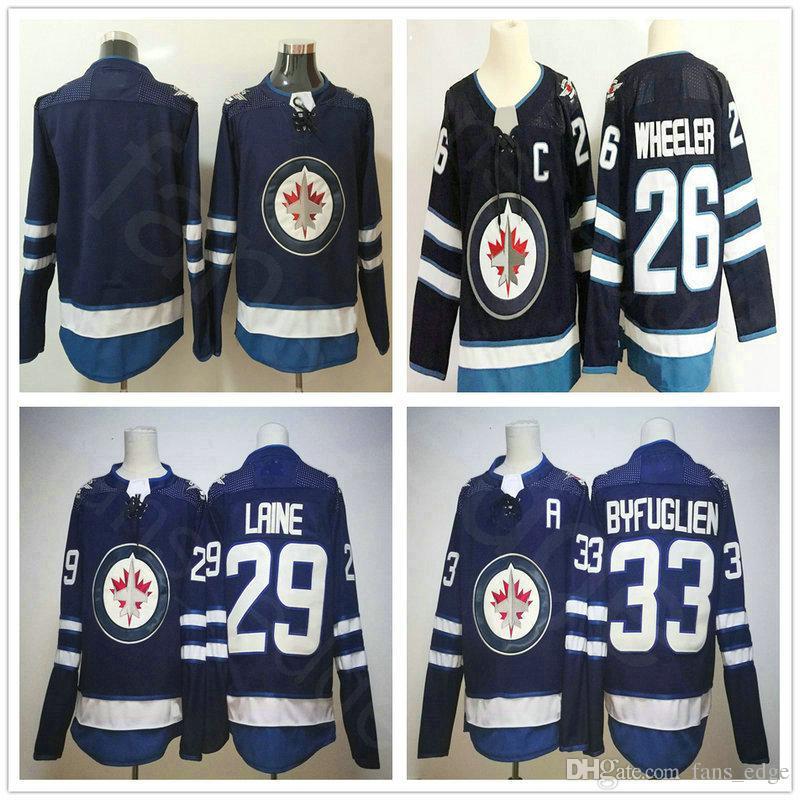 8cf63a953 2019 2018 New Style Brand Winnipeg Jets Hockey Jerseys Blank 26 Blake  Wheeler 29 Patrik Laine 33 Dustin Byfuglien Home Blue Jersey From  Pkjerseys