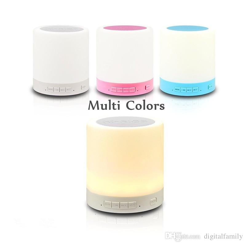Altoparlante Bluetooth senza fili Smart Touch Lampada Lettore musicale Vivavoce Bluetooth Altoparlante Scheda TF Pannello di controllo sensibile al tocco supportato