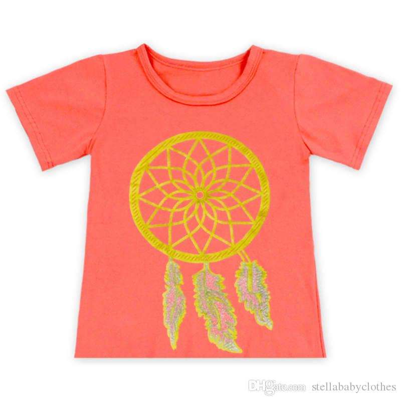 3130c3778 2019 Summer Girls Cotton T Shirts Short Sleeve Printed Pattern Baby Shirt  Girls Clothes Knit Cotton Girls Tees From Stellababyclothes, $59.7 |  DHgate.Com