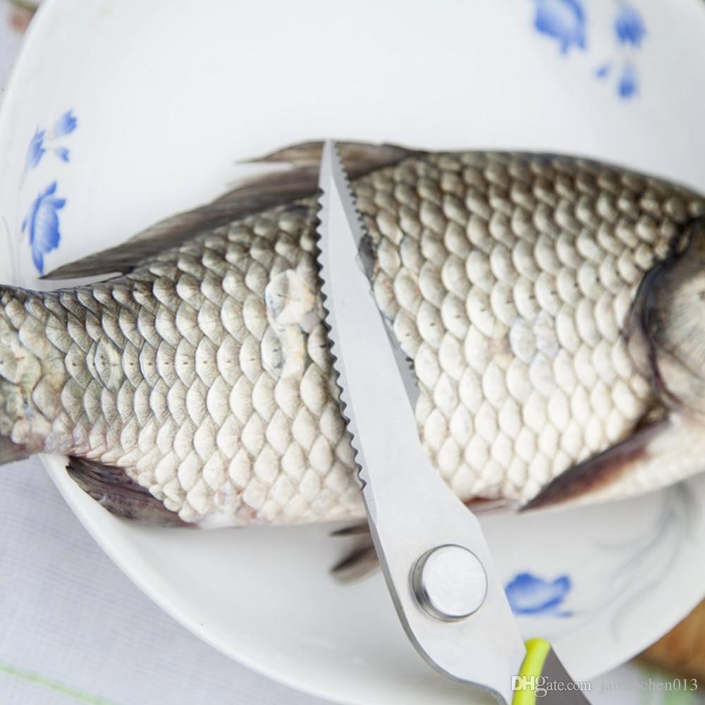 주방 가위 생선 용 닭고기 가정용 스테인레스 스틸 다기능 절단기 가위 주방 전단 무료 배송