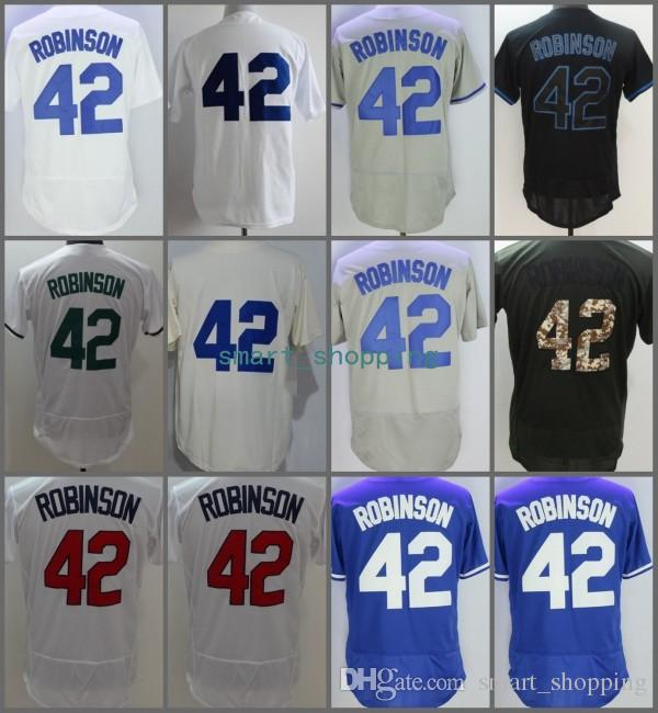 2019 2018  42 Jackie Robinson Flexbase Home Away Baseball Jersey Light Blue  White Grey Cool Base Stitched Jerseys From Smart shopping fb243b65ce1