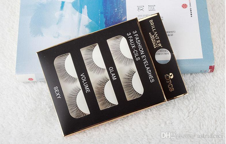 Pure Handmade Fake Eyelash 3D Mink Eyelash Real Mink Handmade Crossing Lashes Individual Strip Thick Lash Fake Eyelashes 103#