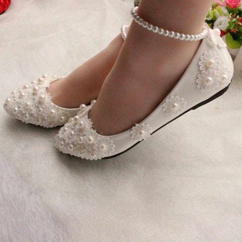 Fancy Low Heel Dyeable Wedding Shoes