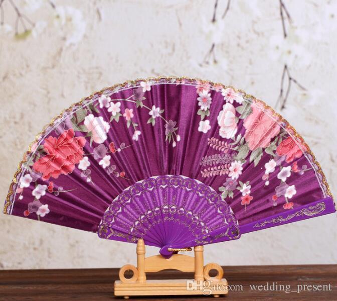 웨딩 숙녀 핸드 팬 광고 및 프로모션 접는 팬 7