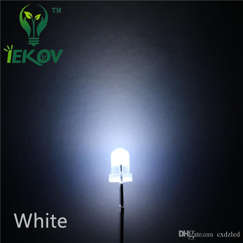 الساخنة بيع / حقيبة 3MM انتشارا الأبيض المصابيح جولة الأعلى Urtal مشرق لمبة ضوء 3MM الثنائيات المكونات الإلكترونية بالجملة