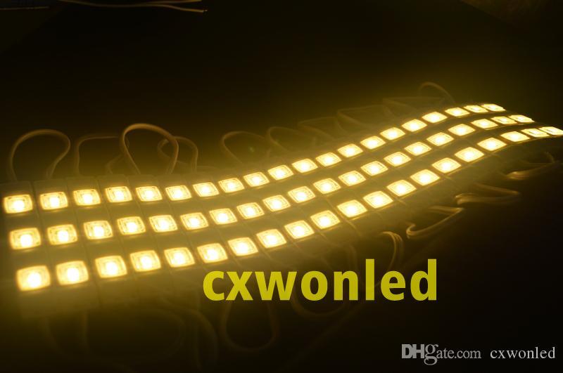 ارتفاع مشرق SMD 5630 LED وحدة 12V حقن صب وحدة واضحة مربع الإضاءة عدسة علامة يعود لكثير