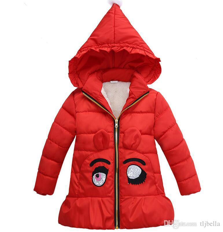 2 5 Years Hooded Girls Coat 2017 New Spring Autumn Winter Warm ...
