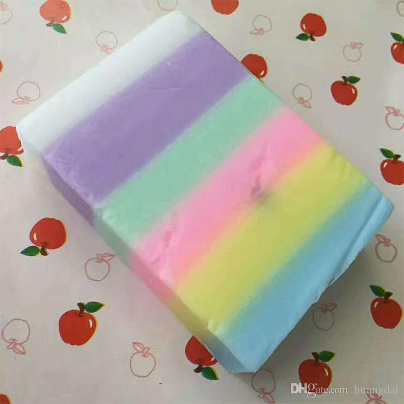 Brand New Arrivals OMO Weiß plus Soap Mix Farbe plus fünf gebleicht weiße Haut 100% Gluta Rainbow Soap DHL