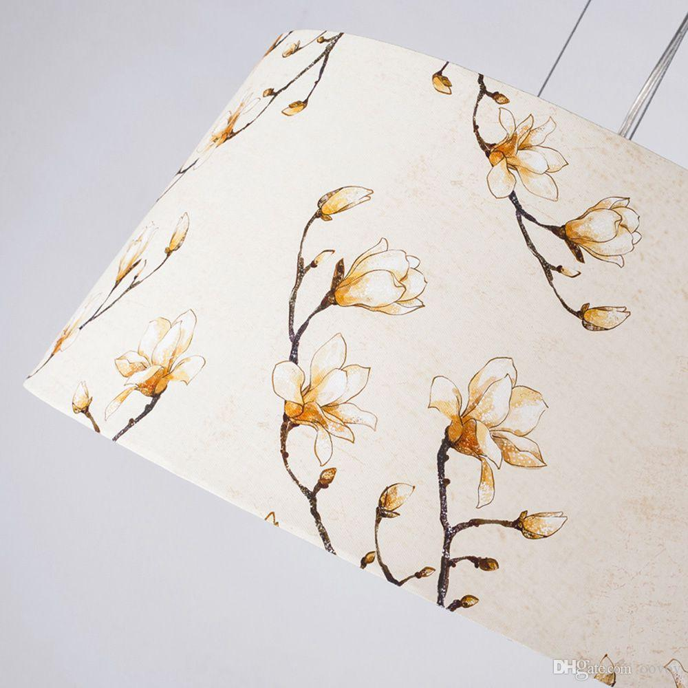 OOVOV Fashion Cloth Flowers Bedroom Pendant Light Modern Study Room Pendant Lamps Dining Room Hanging Lamp