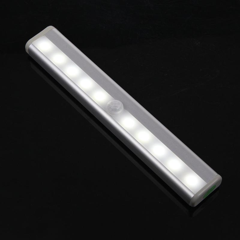 2018 2016 10 Led Wireless Motion Sensor Led Night Light Battery Powered  Motion Activated Closet Light Wall Light Step Light From Kahoyoledlight, ...