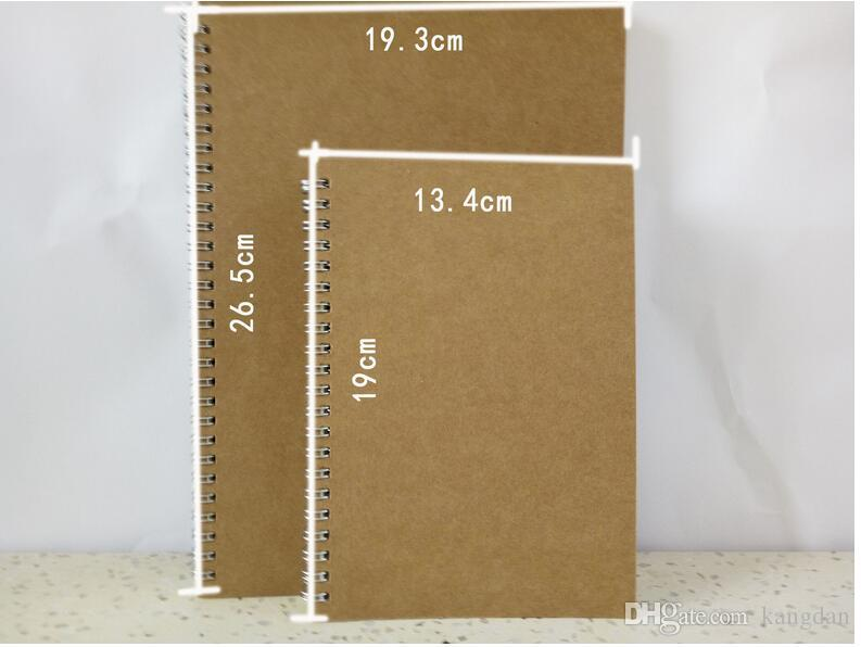 Kraft paper notepads grid dot design drawing animation design paper book sketching draft notebooks painting art Coil Book promotional gift
