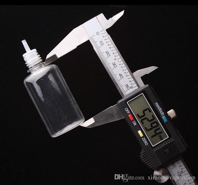 최고의 판매 E 액체 PET 빈 병 5ml를 10ml의 15 ㎖ 20ml의 30ML 50ML 긴 얇은 팁 스포이드 그리고 Childproof 캡 E 주스 플라스틱 Ecig 병